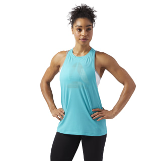 Burnout Tank Turquoise/Solid Teal CF3379