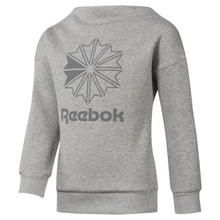 Girls Classics Crew Medium Grey Heather DH3232