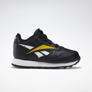 Classic Leather Shoes Black / White / Toxic Yellow EF8637