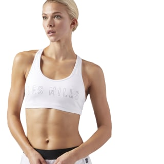 LES MILLS® Hero Racer Sports Bra White CD6216