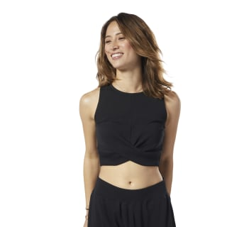 Studio Novelty Crop Top Black EB8144
