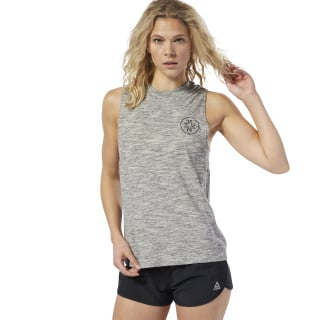 Koszulka bez rękawów LES MILLS® Marble Medium Grey Heather DV2713