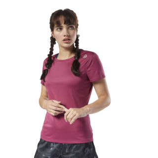 Running Essentials Short Sleeve Tee Twisted Berry CY4640