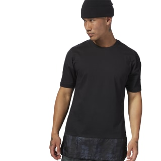 Training Essentials Knit-Woven Tee Black CY4855