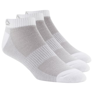 Active Foundation Inside Socks 3 Pairs White / White / White DU2987