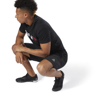 Pantalón corto Training Essentials Jersey Black D94207