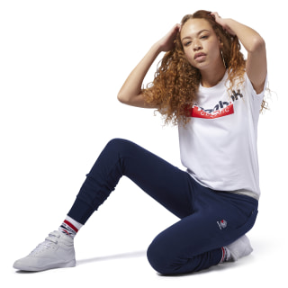 Reebok Classics Franchise Fleece Pants Collegiate Navy / White DH1379