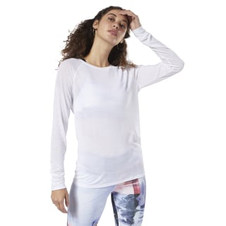 One Series Burnout Long Sleeve Tee White DY8164