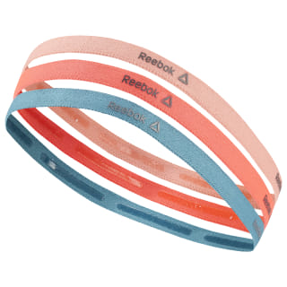 Reebok ONE Series Thin Headbands Stellar Pink / Neon Red / Mineral Mist DU2846