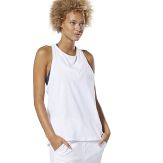 Camiseta sin mangas Training Supply Racer White DU4071