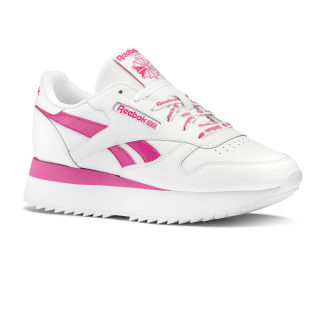 Classic Leather Double White / Twisted Pink DV8261