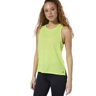 Camiseta sin mangas Perforated Neon Lime DP5625