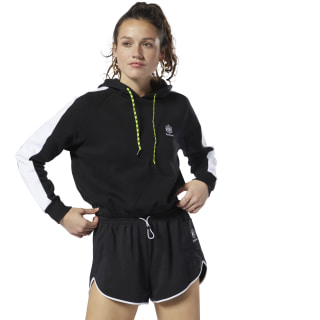 Buzo Classic Leather Gp Cropped Hoodie black / white DT7305