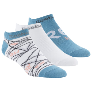 Kit De Meias F Run Club 3P white / white / mineral mist DU2829