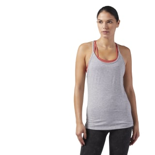 Recycled Racerback Tank Medium Grey Heather CF8699