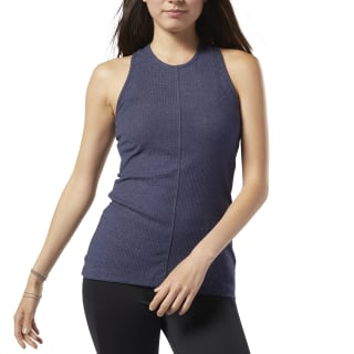 Musculosa Training Essentials Ribbed Heritage Navy DY8140