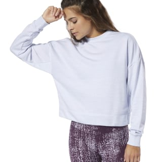 Training Essentials Marble Crew Sweatshirt White DP6663