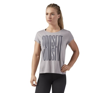 Reebok CrossFit Stretch Easy Tee Powder Grey CF5758