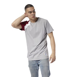 T-SHIRT SHORT SLEEVE ES Tee mgh solid grey/cranberry red DJ1912
