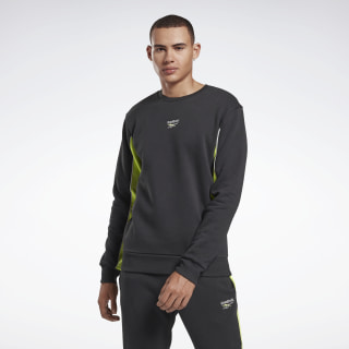 Crew Sweatshirt Black / Neon Lime FS6667