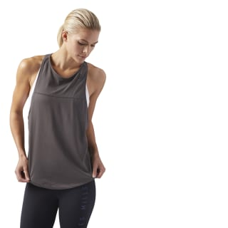 LES MILLS Quik Cotton Tank Urban Grey CD6203