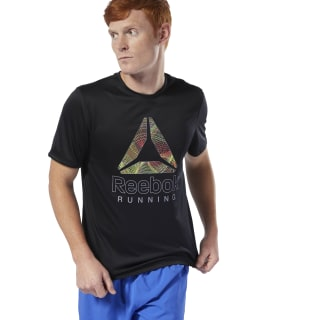 Run Essentials Graphic Tee Black DU4305