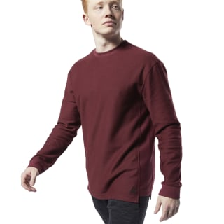 Sweat à col rond en sergé Training Essentials Lux Maroon EC0797