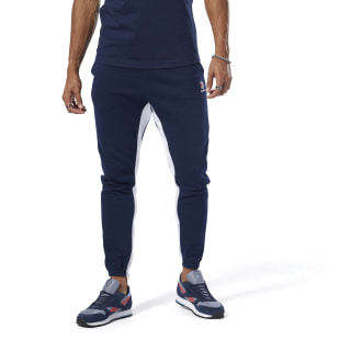 Pants con sudadera Classic Leather F ZIP JOGGER collegiate navy DT8166