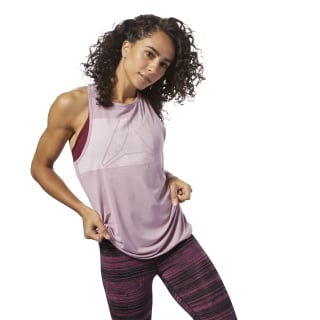 ACTIVCHILL Graphic Tanktop Infused Lilac D93872