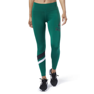 Workout Ready Big Logo Tights Clover Green EC2357