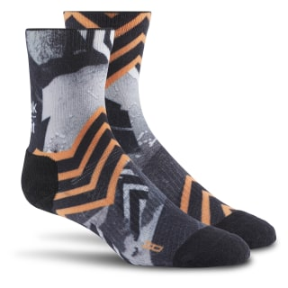 Reebok CrossFit Stripe Crew Sock Black / Fire Spark BP9140