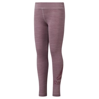 Girls Training Essentials Marble Melange Legging Twisted Berry DH4374