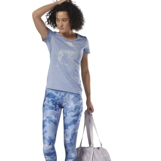 T-shirt Running Reflective Graphic Bunker Blue CY4677