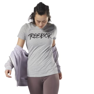Camiseta GS Script Reebok Medium Grey Heather DH3732