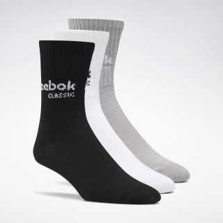 Classics Core Crew Socks Three Pack Black / White / Medium Grey Heather DM3431