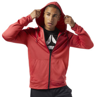 Худи Workout Ready Full-Zip Thermowarm rebel red EJ8758