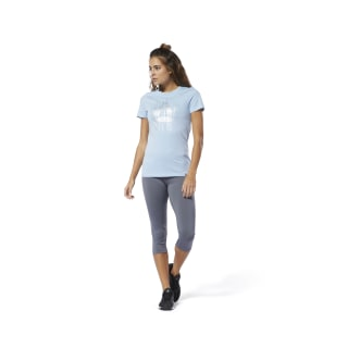 Motion Dot Crew Tee Denim Glow DU4672