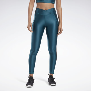 SH HighRise Tight-ShinyLy Heritage Teal FK5306