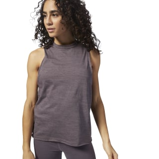 Training Essentials Marble Tank Purple CY3590