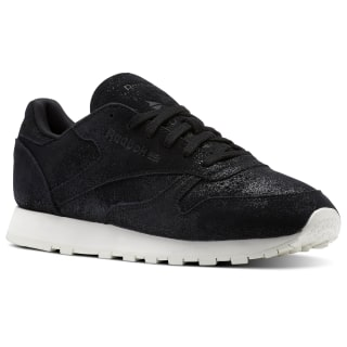 Classic Leather Shimmer Black/Chalk BS9856