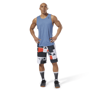 Reebok EPIC Cordlock Shorts - Digital CrossFit White D94882
