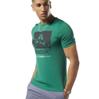 Remera Wor Activchill Graphic Ss clover green DY7808