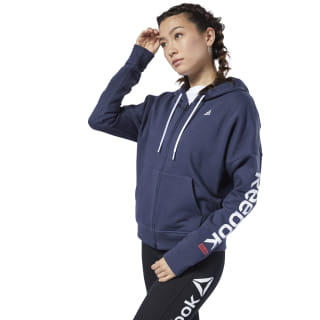 Sweat à zip intégral Training Essentials Heritage Navy FI2007