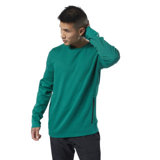 Training Supply Crew Sweatshirt Clover Green EC0717