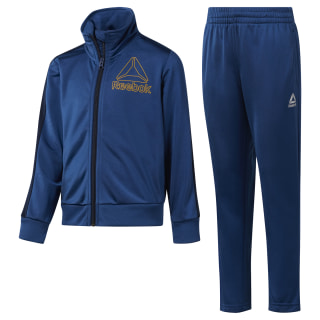 Boys' Workout Ready Tricot Tracksuit Bunker Blue DH4326