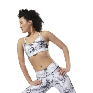 Bra LES MILLS™ Reebok Hero Strappy Padded White / Black DJ2212
