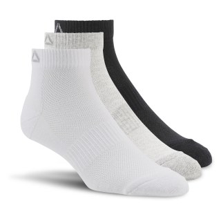 Sport Essentials Unisex Ankle Sock - 3pack Black/White AJ6250