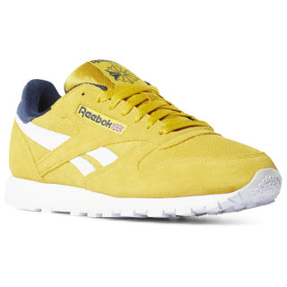 Classic Leather Urban Yellow / Collegiate Navy DV4252