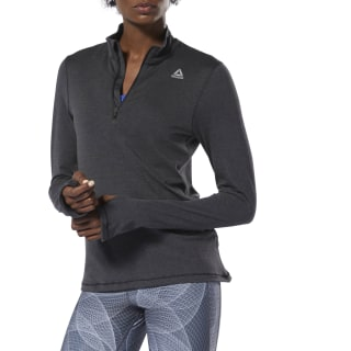 Джемпер Running Essentials Quarter-Zip black DU4223