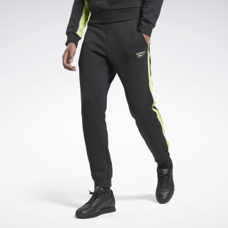 QQR PANEL JOGGERS Black / Neon Lime FS6680